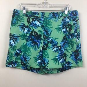 Banana Republic | Green Flower Shorts | Size 10